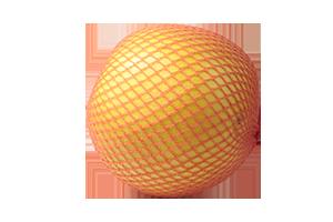 Orangenes Netz um Pomelo