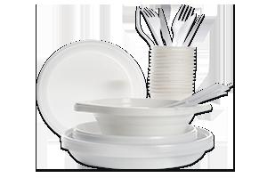 Geschirr aus Plastik