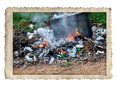 Plastikmüll wird verbrannt
