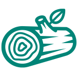 Grüner Baumstamm Icon