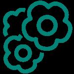 Grüne Blumen Icon